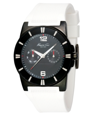 Kenneth Cole New York Watch, Men's White Rubber Strap