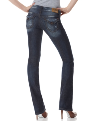 GUESS Jeans, Flirty Straight Leg, Mariposa Wash