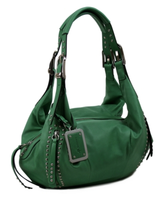 Leather Hobo Bag - B. Makowsky