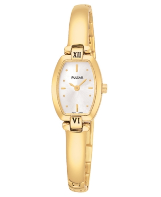 Pulsar Watch, Women's Goldtone Stainless Steel Bracelet PEGA68 - Pulsar