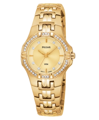 Pulsar Watch, Women's Goldtone Stainless Steel Bracelet PTC390