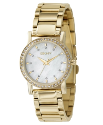 DKNY Watch, Women's Goldtone Ion Plated Stainless Steel Bracelet NY4792