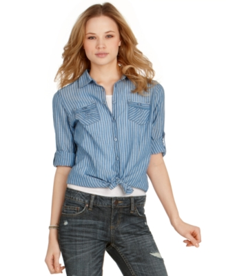 American Rag Top, Striped Button Down Shirt