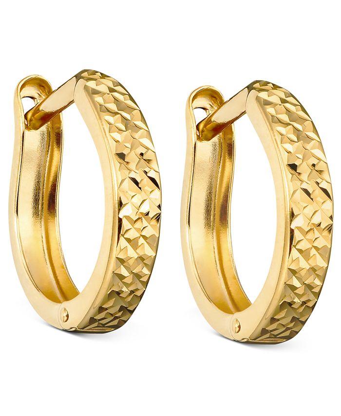Macy's - 10k Gold Hoop Earrings