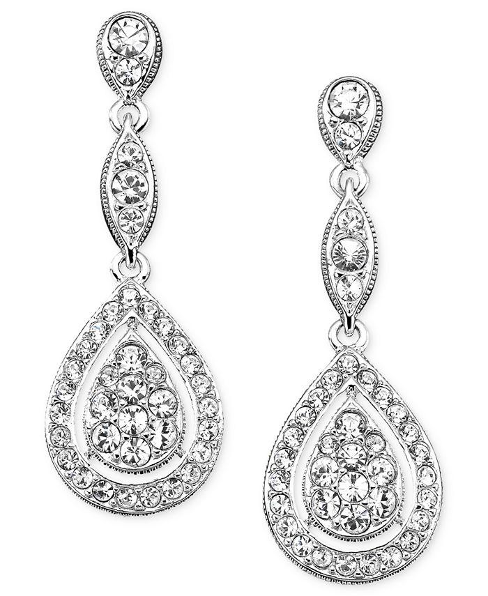 Eliot Danori - Earrings, Raindrop Crystal