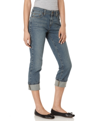 DKNY Jeans Cropped Jeans, Concrete Blue Wash