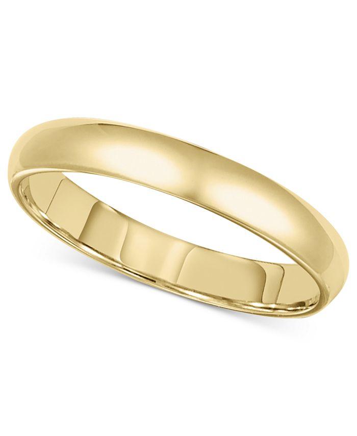 Macy's - 14k Gold Ring, 3mm Wedding Band