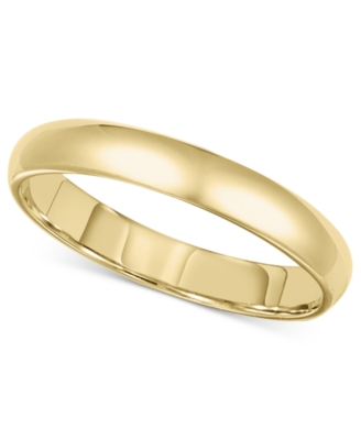 14k Gold Ring, 3 mm Comfort Fit Band (Size 8.5-13)