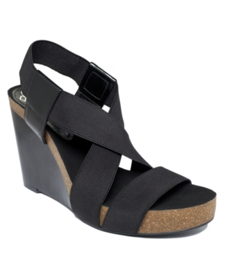 BCBGeneration Shoes, Tempa Wedge Sandals Women's Shoes