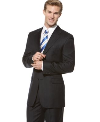 Donald Trump Suit, Navy Stripe