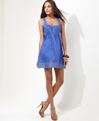 Jessica Simpson Dress, Sleeveless Pintucked