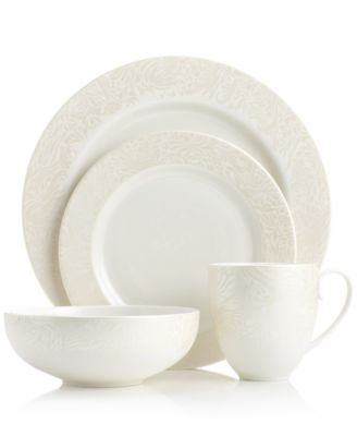 Monsoon Dinnerware Collection by Denby, Lucille Gold 4 Piece Place Setting