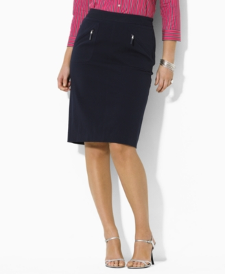 Lauren by Ralph Lauren Plus Size Skirt, Agatha Pencil