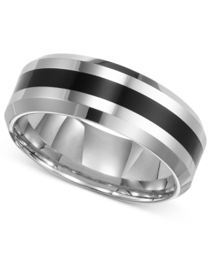 Triton Men's Tungsten Carbide Ring, Comfort Fit Wedding Band
