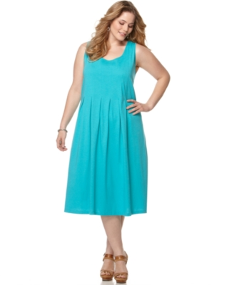 J Jones New York Plus Size Dress, Sleeveless Scoopneck