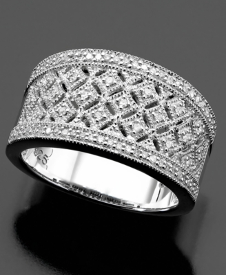 Sterling Silver Ring, Diamond (1/5 ct. t.w.)