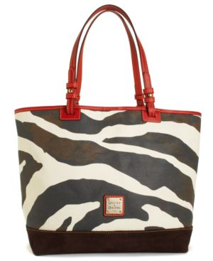 Dooney & Bourke Handbag, Animal Print Fabric Lee Tote