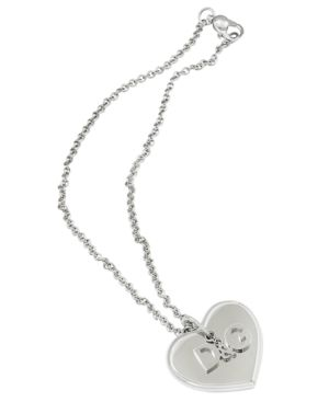 D&G Pendant, Stainless Steel Heart - Jewelry
