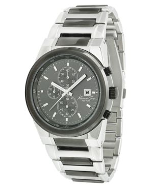 Kenneth Cole New York Watch, Men's Chronograph Two Tone Stainless Steel Bracelet KC3909