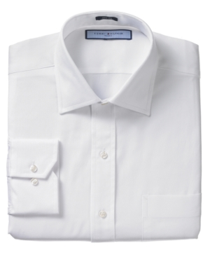 Tommy Hilfiger Dress Shirt, Texture Oxford Slim Fit Long Sleeve Dress Shirt