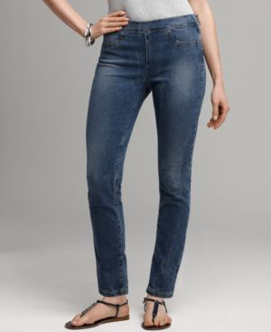 DKNY Jeans Skinny Jeans, Side Zip Ankle Light Martinique Wash