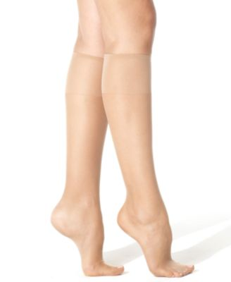 Image of Hanes Silk Reflections Knee Highs Sheers 775