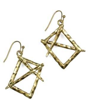 Rachel Rachel Roy Earrings, Worn Goldtone