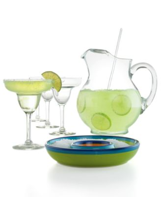 The Cellar Glassware, Margarita 7 Piece Set
