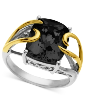 14k Gold and Sterling Silver Ring, Onyx Overlay