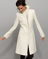 DKNY Coat, Danielle Ruffled Placket
