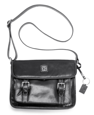 Giani Bernini Handbag, Glazed Flap Shoulder