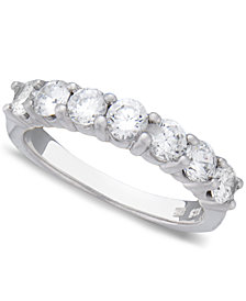 Seven Diamond Band in 14k Gold or White Gold (1 ct. t.w.)
