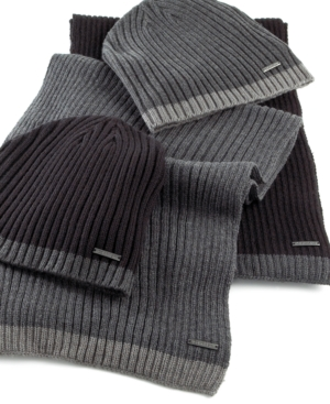 Calvin Klein Scarf, Ribbed Muffler With Tipping