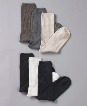 Club Room Socks, Casual Rib, 6 Pack