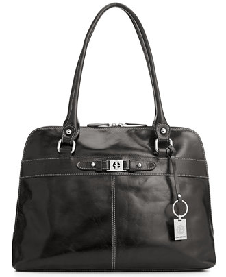 Giani Bernini Florentine Glazed Leather Dome Tote