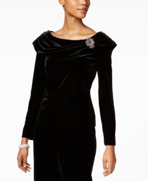1940s Style Prom, Party, Cocktail Dresses Alex Evenings Embellished Velvet Blouse $129.00 AT vintagedancer.com