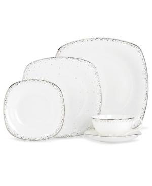 Lenox Lifestyle Dinnerware, Silver Mist Square 5 Piece Place Setting