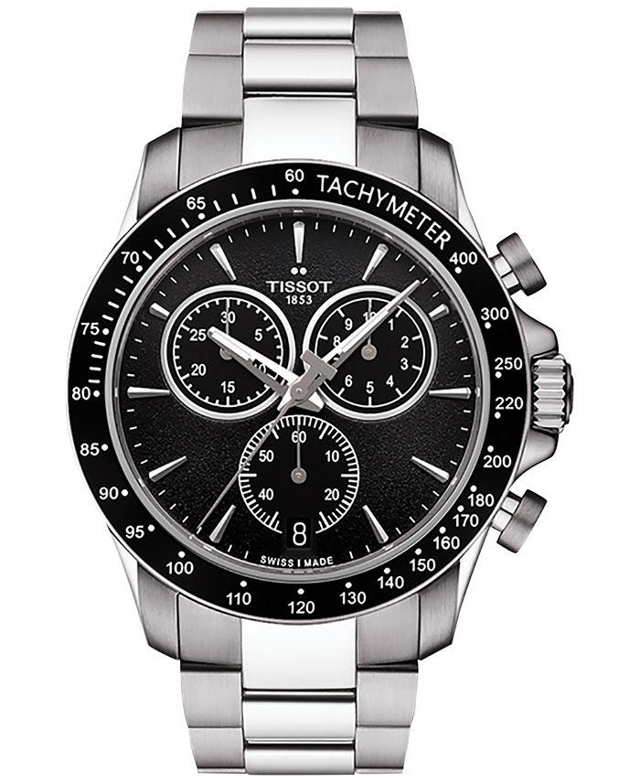 Tissot - Men's Swiss Chronograph V8 Stainless Steel Bracelet Watch 42mm T1064171105100