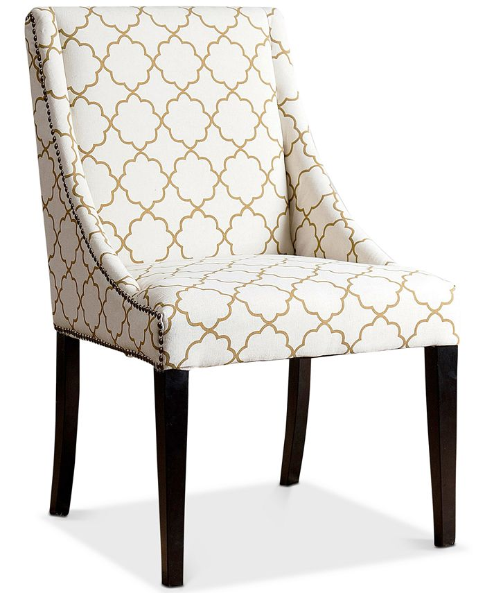 Abbyson Living - Feltyn Swoop Dining Chair, Direct Ship