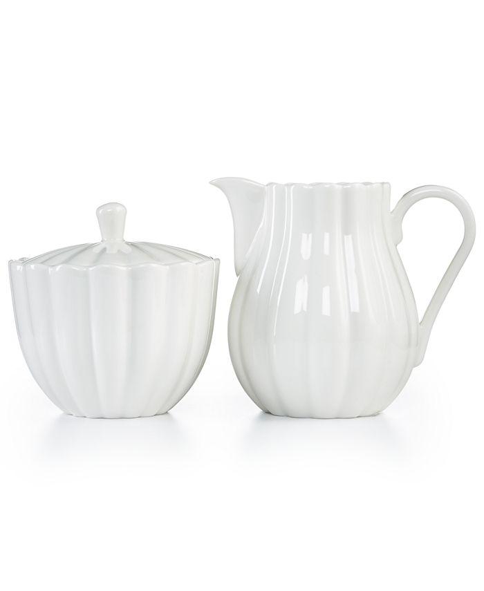 Martha Stewart Collection - Fleur Sugar Bowl & Creamer Set