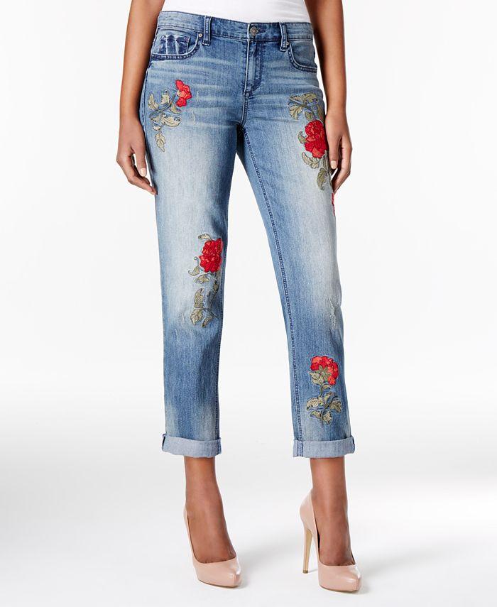 Vintage America - Embroidered Boyfriend Jeans