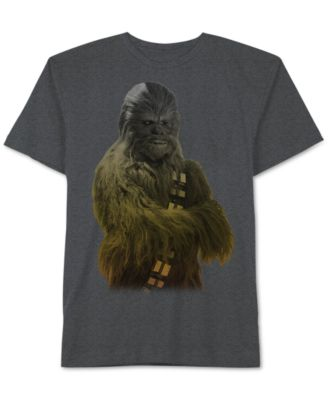 Mens Star Wars Chewbacca Ombré Graphic-Print T-Shirt from Jem