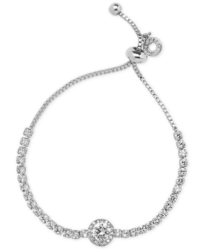 Anne Klein - Silver-Tone Multi-Crystal Slider Bracelet