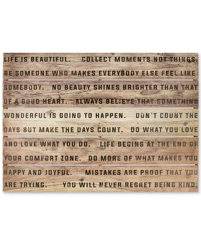 Graham & Brown - Life Is Beautiful Print on Wood