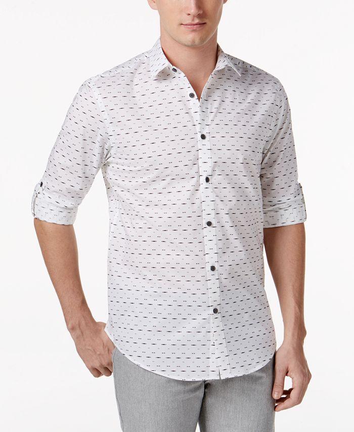 Alfani - Men's Cardosa Dash-Print Shirt