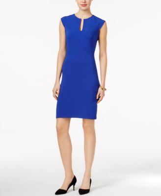 Bar III Split-Neck Bodycon Dress, Only at Macys