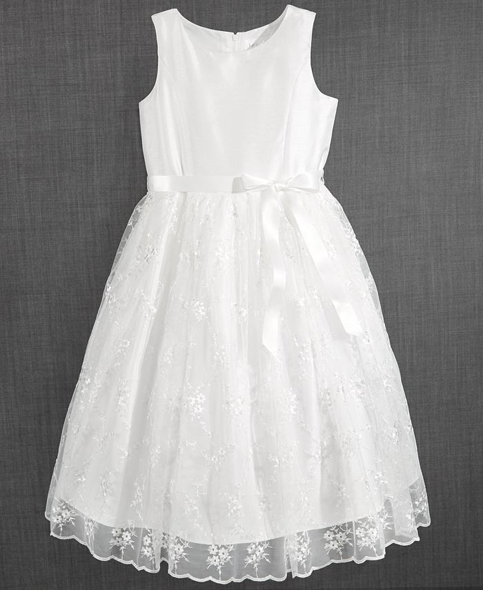 Us Angels Blush By Embroidered Communion Dress Little Girls Reviews All Girls Dresses Kids Macy S