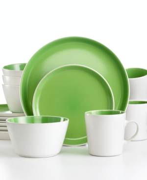 Oneida Dinnerware, Green Color Burst 16 Piece Set