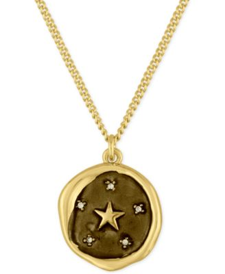Gold-Tone Star Pendant Necklace