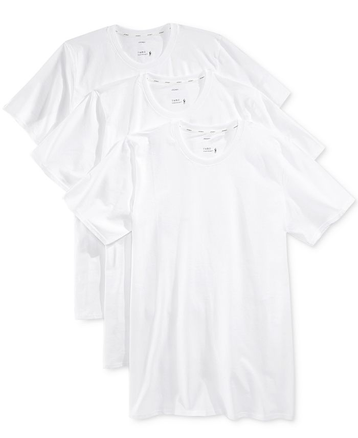 Jockey - Men's 3-Pk. Staycool Cotton Undershirts